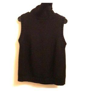 Ralph Lauren Sleeveless Sweater Black Cotton Large
